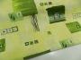 Karton zöld mintás